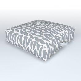 Hand Knit Zoom Grey Outdoor Floor Cushion