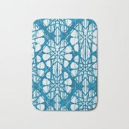 Blue and White Batik  Bath Mat