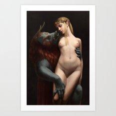The Beast and The Princess -- Nude Art Print