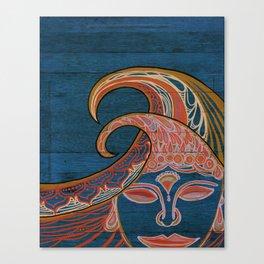Zen Waves Surf Art by Lauren Tannehill Art Canvas Print