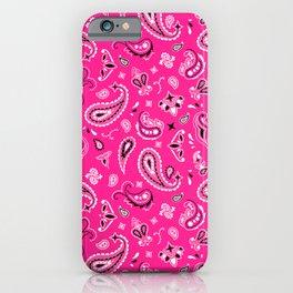 Pink Bandana iPhone Case