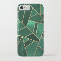 copper iPhone & iPod Cases featuring Emerald and Copper by Elisabeth Fredriksson