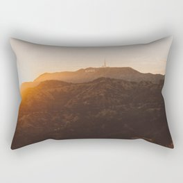 Hollywood Sign from Griffith in the sunset Rectangular Pillow