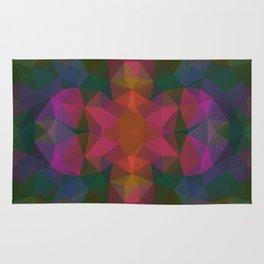 Triangles design in dark and bright colors Rug