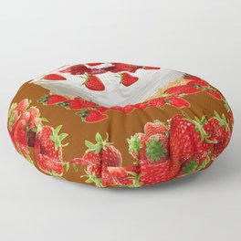 CHOCOLATE STRAWBERRIES PARTY CAKE Floor Pillow