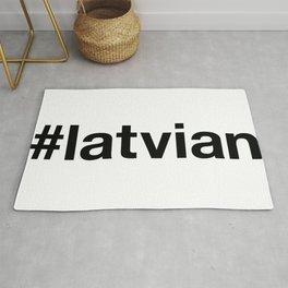 LATVIAN Hashtag Rug