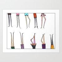 legs Art Prints featuring Legs! by Pattes De Mouche