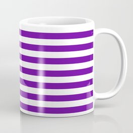 Halloween Two color stripes Violet and White Coffee Mug