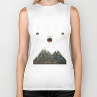 yeti Biker Tanks featuring Yeti by Artificial primate