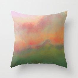 Fiery Morning Throw Pillow