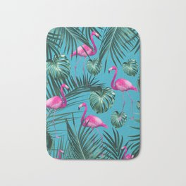 Tropical Flamingo Pattern #4 #tropical #decor #art #society6 Bath Mat
