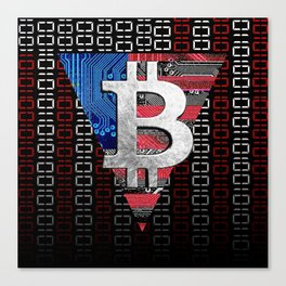 bitcoin USA  Canvas Print