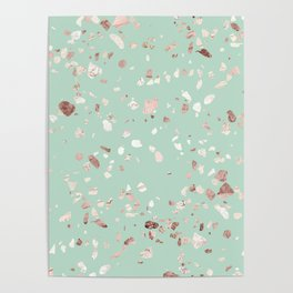 Minty Pink Poster