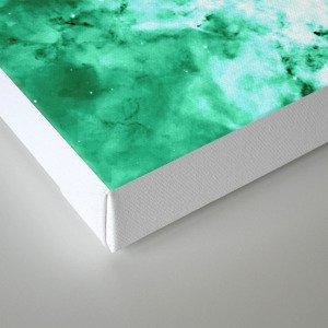 Sea Green Nebula Waves Canvas Print