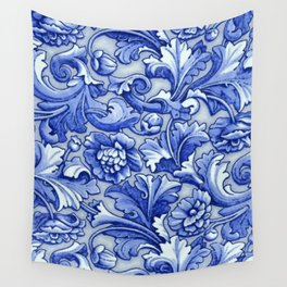 Blue and White Porcelain Wall Tapestry