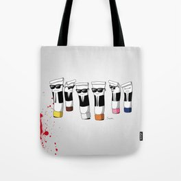 Reservoir Colours (with blood and light colored t-shirts) Tote Bag