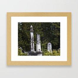 Cemetery Stone Framed Art Print