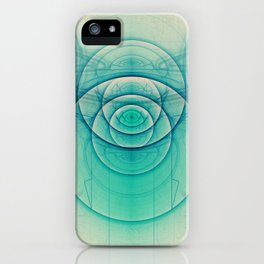 Egyptian Turquoise Scarab on Beige Sandstone Glyphs iPhone Case