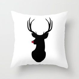 Rudolph The Red-Nosed Reindeer Throw Pillow