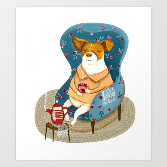 Morran the dog Art Print