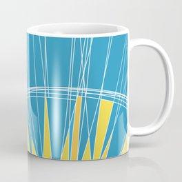 Abstract pattern, digital sunrise illustration Coffee Mug