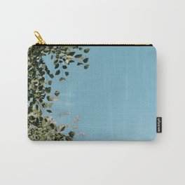 bright blue sky with leaves Carry-All Pouch
