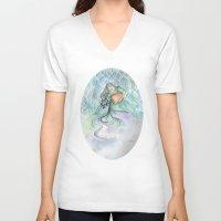 aquarius V-neck T-shirts featuring Aquarius by Aline Souza de Souza