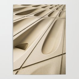 Architectural abstract of the Broad (rhymes with road), Los Angeles, California Poster