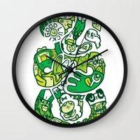 tiki Wall Clocks featuring TIKI  by Jun Arita