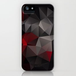 Polygon red black triangles . iPhone Case