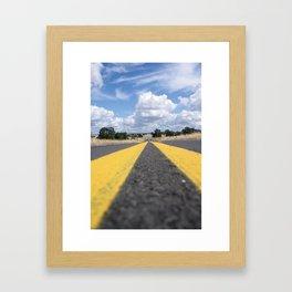 the long road ahead Framed Art Print