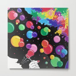 Bubbles colors the World !  Metal Print