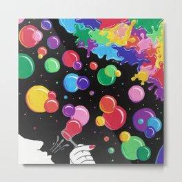 Bubbles colors the World !  Metal Print