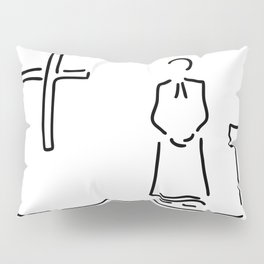 priest with cup in church Pillow Sham