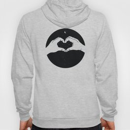 Heart made with hands for Valentine's Day Hoody