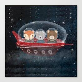 a little space adventure Canvas Print