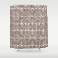quibe Shower Curtains featuring Wood print II by Magdalena Hristova