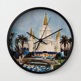 Oakland California LDS Temple Dusk Wall Clock
