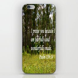 Fearfully and Wonderfully Made iPhone Skin