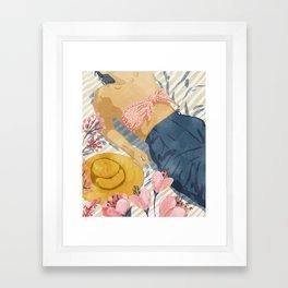 Beach Vacay #society6 #travel #illustration Framed Art Print