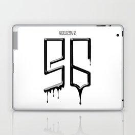 S6 TEE BLACK PAINT Laptop & iPad Skin