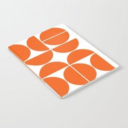 Mid Century Modern Geometric 04 Orange Notebook