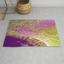 Purple and Yellow Abstract Lines and Swirls | Saletta Home Decor Rug