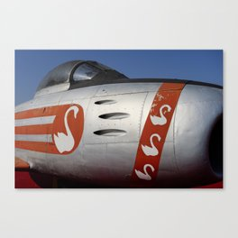 F-86E Sabre Flying Swans Canvas Print