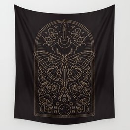 Moon Moth Wall Tapestry