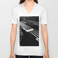 bass V-neck T-shirts featuring Bass  by Lia Bedell