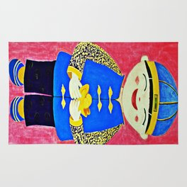 Chinese Boy With Gold Ingots Rug