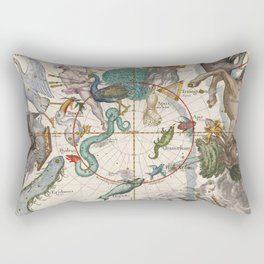 Old Constellation Map Year 1693 Rectangular Pillow