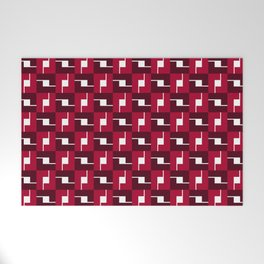 Geometric Pattern #257 (red boxes) Welcome Mat