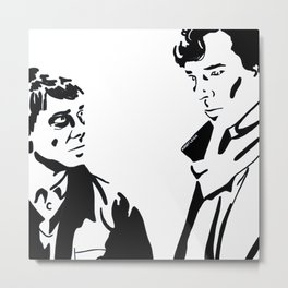 Simple Sherlock Metal Print